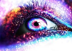 Dazzling multi-glittered eye