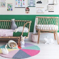 Cane furniture for kids from @downtothewoods. Available to purchase from our friends @thewoodsfolk. Nursery