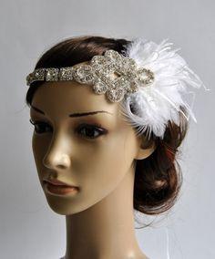 Ready to ship 1920s Rhinestone Headpiece,1920's head piece,Flapper headband,1930's, crystal headband, Rhinestone flapper headpiece on Etsy, $48.00