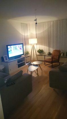 Retro, room, oakfloor, eiken, parket, lamp, light