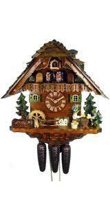Relógio de Cuco <br> Black Forest Casa, 2 bebedores de cerveja