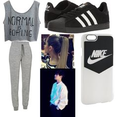 You OutDance Him: Baekhyun by scarletpeak on Polyvore featuring Icebreaker, adidas and NIKE