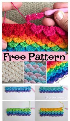 Crochet Sequins Stitch – Free Pattern & Video #freecrochetpatterns