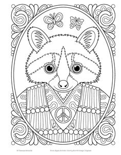 Coloring Sheets Books Pages Colouring Animal Design Art Therapy Doodle Cool Designs Chill Vintage