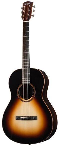 Bedell Coffee House Parlor. This is a premium acoustic-electric parlor guitar from Bedell.