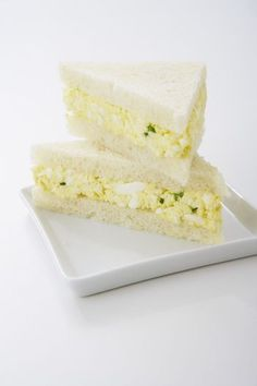 This simple egg salad tea sandwich is very easy to make and has an unobtrusive, mellow flavor that's easy for everyone to like.