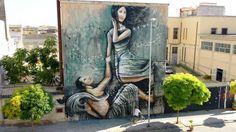 Alice Pasquini - Arethusa and Alpheus, Syracuse, Italy