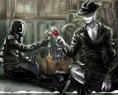 Offenderman, Kagekao, drinking, wine, kanpai; Creepypasta