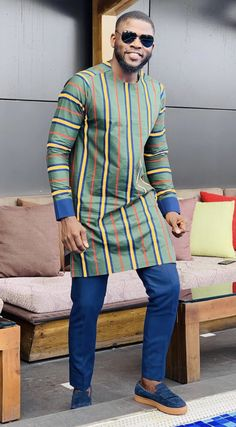 Call, SMS or WhatsApp if you want this style, needs a skilled tailor to hire or you want to expand more on your fashion business. Couples African Outfits, African Dresses Men, African Attire For Men, African Clothing For Men, Blue Blazer Outfit Men, Blazer Outfits Men, African Print Shirt, African Shirts, Nigerian Men Fashion