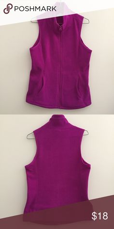 Magenta fleece vest Old Navy magenta fleece vest. Great condition. Old Navy Jackets & Coats Vests