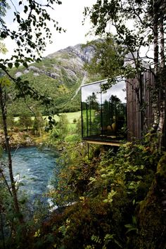 Glass house in Norway