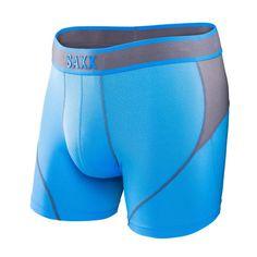 Saxx Mens Kinetic Boxer Briefs Blue Orange