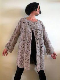 omⒶ KOPPA: Kukkamandalaruutu - VILLATAKKI - omA variaatio Crochet Jumper, Knit Cardigan Pattern, Crochet Cozy, Crochet Jacket, Freeform Crochet, Easy Crochet Stitches, Crochet Chart, Crochet Designs, Crochet Patterns