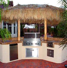 Outdoor Tiki Bar And Kitchen