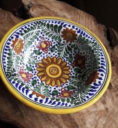 Rustica Gift & Pottery Amapola Mexican Talavera Pottery Collection Evocative of Italian Pottery