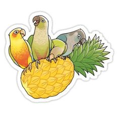 Green Cheek Paradise Sticker
