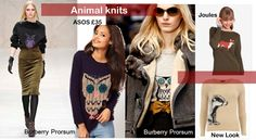 animal knits blow fashion autumn winter 2012 trend knitwear new look joules burberry