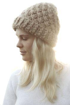 Acne angora knit beanie