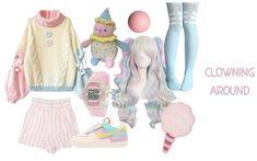 Anime Outfits, Girly Outfits, Fall Outfits, Cute Outfits, Fashion Outfits, Harajuku Girls, Harajuku Fashion, Pastel Goth Fashion, Kawaii Fashion