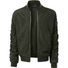LE3NO Mens Lightweight Nylon Hipster Windbreaker Zip Up Bomber Jacket ($39) ❤ liked on Polyvore featuring men's fashion, men's clothing, men's outerwear, men's jackets, mens light weight jackets, mens blouson jacket, mens flight jacket and mens hipster jackets