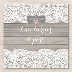 Check out Lace border clipart by burlapandlace on Creative Market