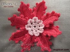 Delicadezas en crochet Gabriela: Adorno floral