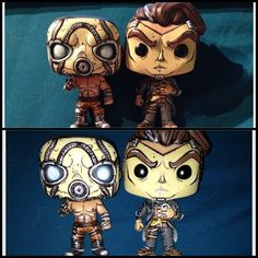 Psycho and Handsome Jack (Borderlands) Funko Pops Custom by Steffanie Leigh SFX