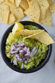 Roasted Tomatillos in classic guacamole adds more intense flavor and takes the classic guacamole to a new delicious level!NaiveCookCooks.com#guacamole #labordayweekend #gameday #snacks
