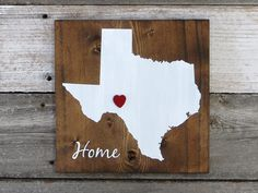 """All States Available, Rustic Hand Painted """"Home State"""" Wood Sign, Texas State Home, Home State Pride by RustyArrowCreations on Etsy https://www.etsy.com/listing/250139488/all-states-available-rustic-hand-painted"""