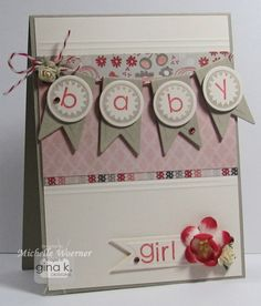 Sweet Baby Girl Card...with a banner.