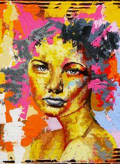 """Saatchi Online Artist Bazevian Bazévian; Painting, """"Confusion & Face C 004"""" #art"""