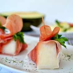Melon with Spanish Serrano ham, a perfect summer Spanish Tapas dish for breakfast or dessert!