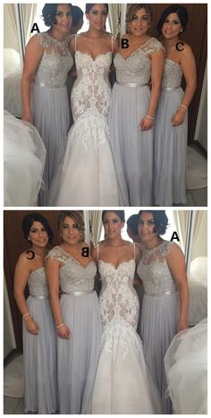 Chiffon bridesmaid dresses, mismatched bridesmaid dresses, grey bridesmaid dresses, formal bridesmaid dresses, cheap bridesmaid dress, 17052 #wedding #bridesmaids #bridesmaiddresses #sequinbridesmaiddresses #longbridesmaiddresses #cheapbridesmaiddresses #dresses