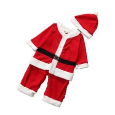 3ae5573bd Christmas Baby Santa Claus Costume for Girls & Boys Girls Christmas  Dresses, Baby Boy Christmas