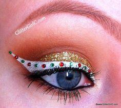 Christmas makeup. YouTube channel: https://www.youtube.com/user/GlitterGirlC