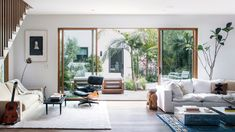 """Noah Mills's Lush Venice Property Is Full of """"Happy Mistakes"""" — Architectural Digest Noah Mills, Patio Interior, Interior Design, Elephant Table, Live Oak Trees, Design Salon, Beach Bungalows, Floating, Custom Kitchens"""