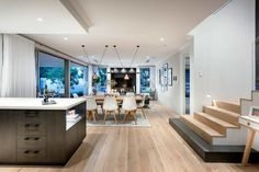 Contemporary two-storey house located in Australia, designed by Webb & Brown-Neaves. Scandinavian Style Home, Minimalist Scandinavian, Modern Home Interior Design, House Layouts, Dining Room Design, House Prices, Home And Living, New Homes, House Design