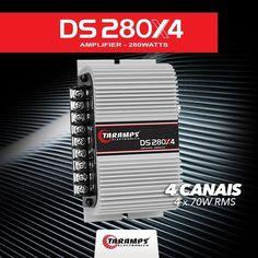 DS 280x4  4 Canais | 4 x 70W RMS  Saiba mais em goo.gl/L6kZ5t