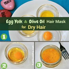egg yolk and olive oil hair mask for dry hair Loading. egg yolk and olive oil hair mask for dry hair Diy Hair Mask For Dry Hair, Best Diy Hair Mask, Hair Growth Mask Diy, Hair Mask For Damaged Hair, Egg Mask For Hair, Hair Mask For Dandruff, Scalp Mask, Hair Masque, Diy Mask