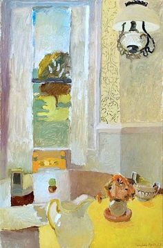 Fairfield Porter Still Life with Yellow Tablecloth (by BoFransson)