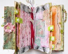 Altered Book Spring Flowers Design