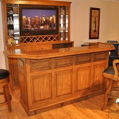 Have to have it. Belvedere Home Bar - Burnished Oak - $2092 @hayneedle