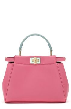 Fendi 'Mini Peekaboo' Colorblock Leather Bag available at #Nordstrom