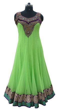 Light Green color floor length anarkali suit – Panache Haute Couture