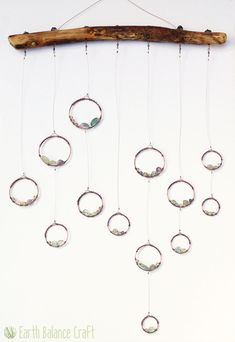 Geometric Dew Drops Hanging Mobile - Bringing nature to life through wire art. By Earth Balance Craft.