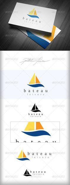 Yacht & Boat Logo - Sailing Club & Leisure Logo  - Objects Logo Templates