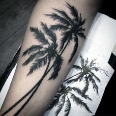 100 Palm Tree Tattoos For Men - Tropical Design Ideas