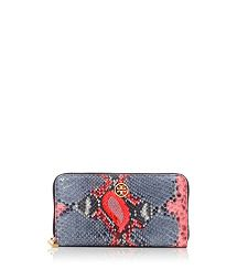 obsessed with this Tory Burch Violet Zip Continental Wallet