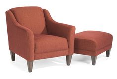 Flexsteel Furniture: Accent Chairs: QuincyFabric Chair & Ottoman (5662-10-08) love the color