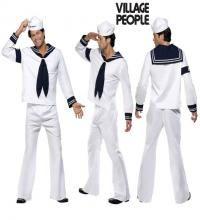 Disfraz de Marinero de los Village People para Hombre. Auténtico y genuino disfraz de los componentes de la icónica banda de música Disco